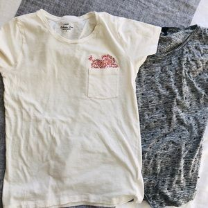 Bundle! Two J. Crew Embellished T-Shirts Sz Small